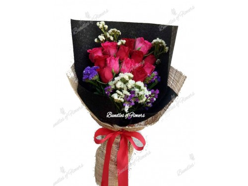 1 DOZ ELEGANT RED AND PINK