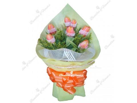 7 Orange Tulips