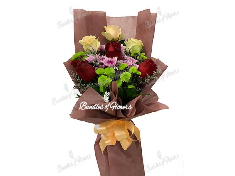 Mixed Flowers Bouquet 09