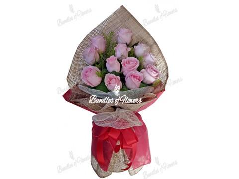 12 Ecuadorian Pink Roses