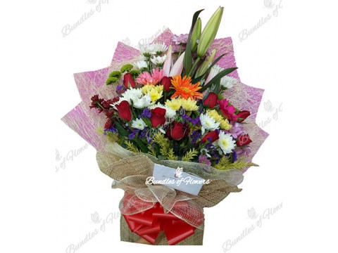 Mixed Flowers Bouquet 01