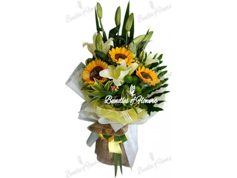 Sunflower with Lilies
