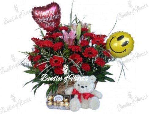 SURPRISE VALENTINE BASKET