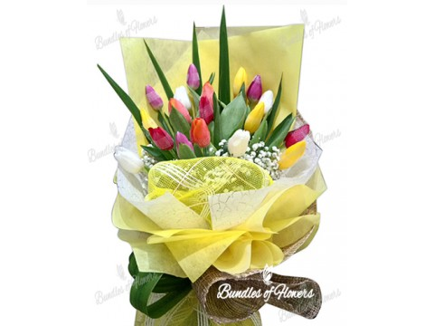 18 Mixed Tulips Bouquet