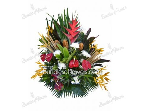 Tropical Table Arrangement