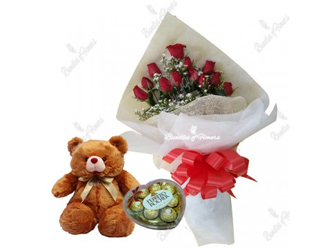 Charming Red with Bear And Choco