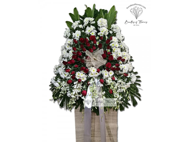 One Layered Funeral Stand 11