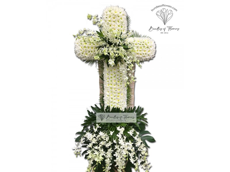 Funeral Cross Flowers 02