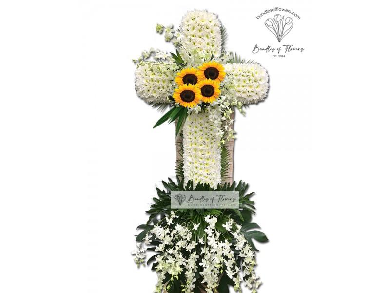 Funeral Cross Flowers 04