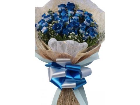 3 Doz Blue Roses