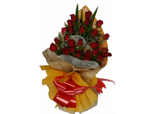 2 Doz Red Roses Bouquet