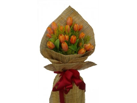 20 Orange Tulips Bouquet