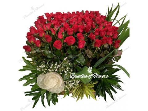 100 Roses Basket
