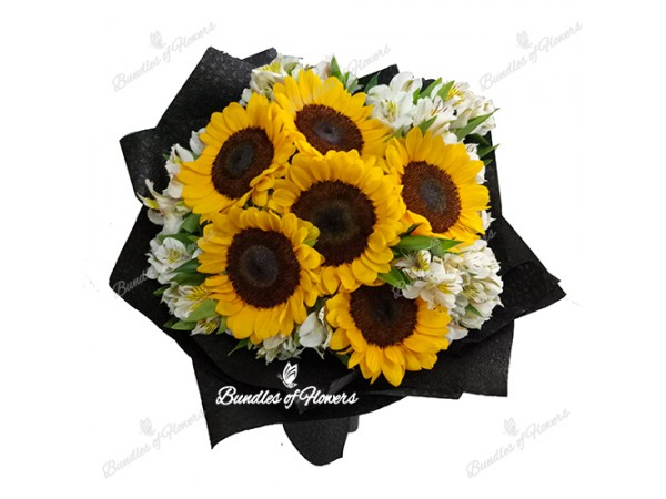 Sunflower Arrangements Delivered : Flower delivery philippines pieces sunflower with