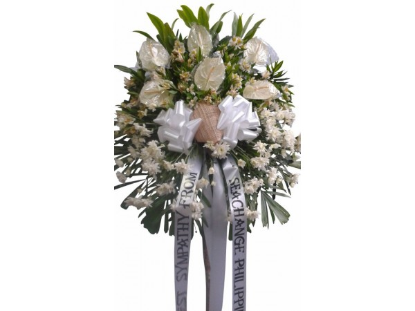Funeral flowers philippines flower delivery philippines 24 white one layered standy 15 mightylinksfo