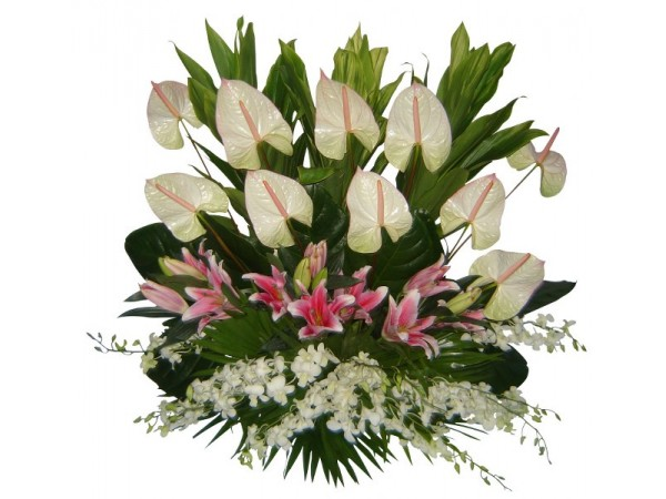Funeral flowers philippines flower delivery philippines 10 white sympathy basket 02 mightylinksfo