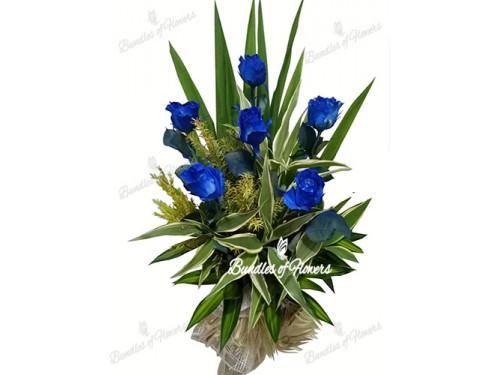 Blue Roses Vase