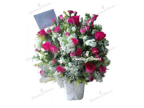 Elegant Flowers in Vase