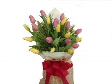 20 Tulips Mixed Bouquet