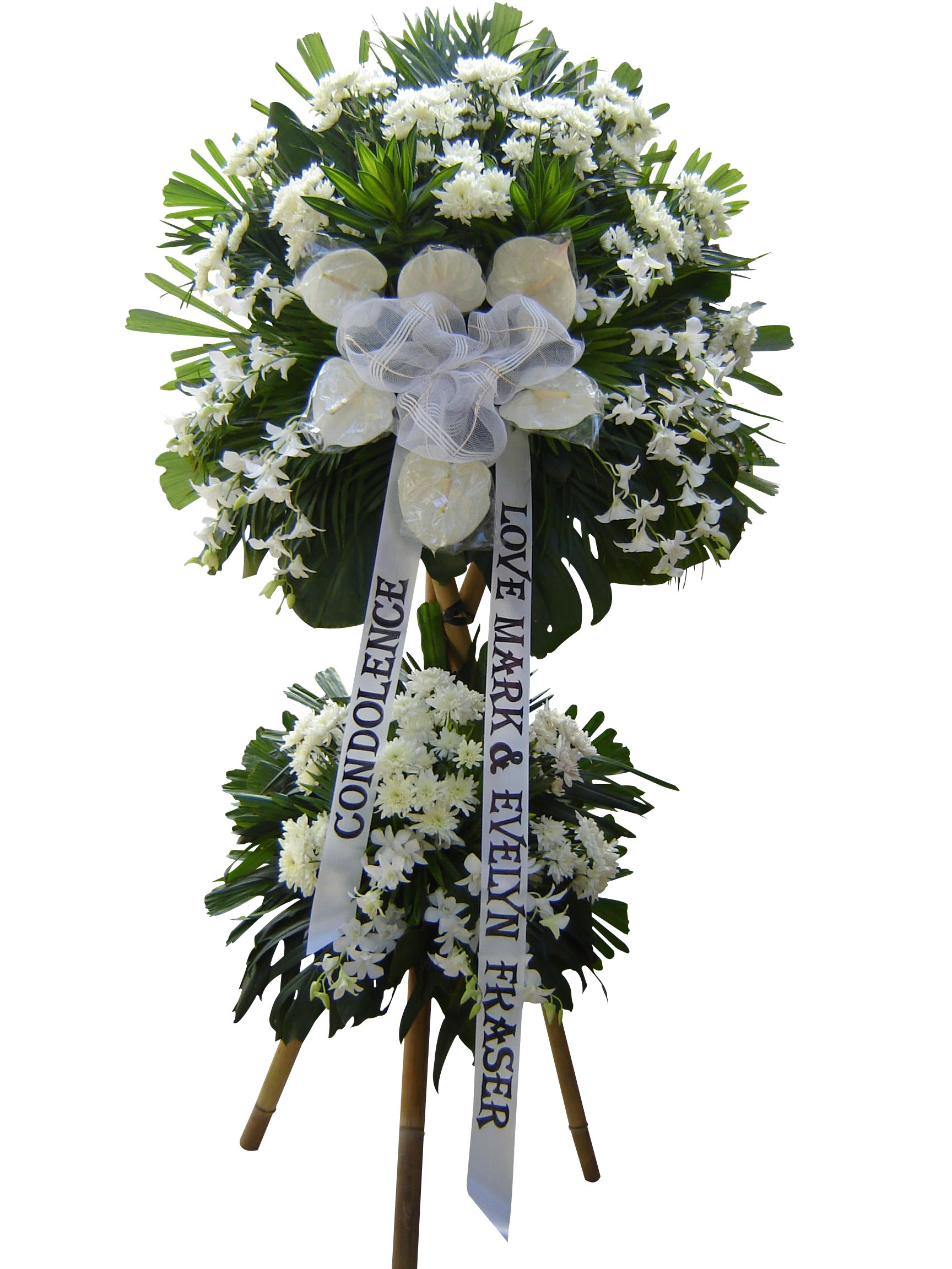 Flower delivery philippines funeral flowers philippines two layered standy 03 dhlflorist Image collections